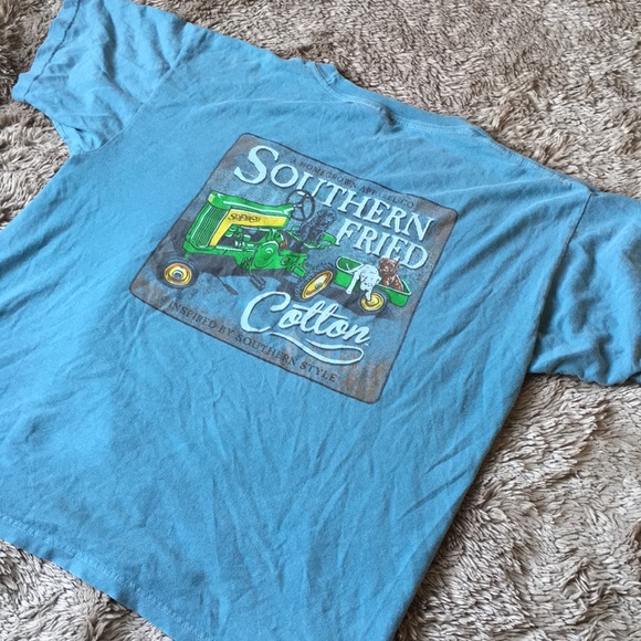 Comfort Colors Tops - Southern fried cotton COMFORT COLORS youth Tshirt